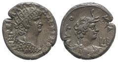 Ancient Coins - Nero (54-68). Egypt, Alexandria. BI Tetradrachm, year 12 (65/6).