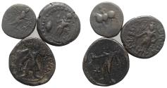 Ancient Coins - Group of 3 Oriental Greek Æ coins, including Kushan kings of India