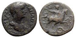 Ancient Coins - Hadrian (117-138). Pisidia, Baris. Æ - R/ Horseman