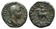 Ancient Coins - SEVERUS ALEXANDER. 222-235 AD. Æ As R/ PROFECTIO AVGVSTI Alexander on horseback RARE