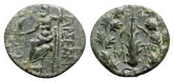 Ancient Coins - Cilicia, Tarsos, 164-27 BC. Æ - Club / Zeus seated