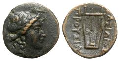 Ancient Coins - Kings of Bithynia, Prusias I (238-183 BC). Æ - Apollo / Lyre