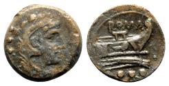 Ancient Coins - Roman Republic - Anonymous, Rome, after 211 BC. Æ Quadrans