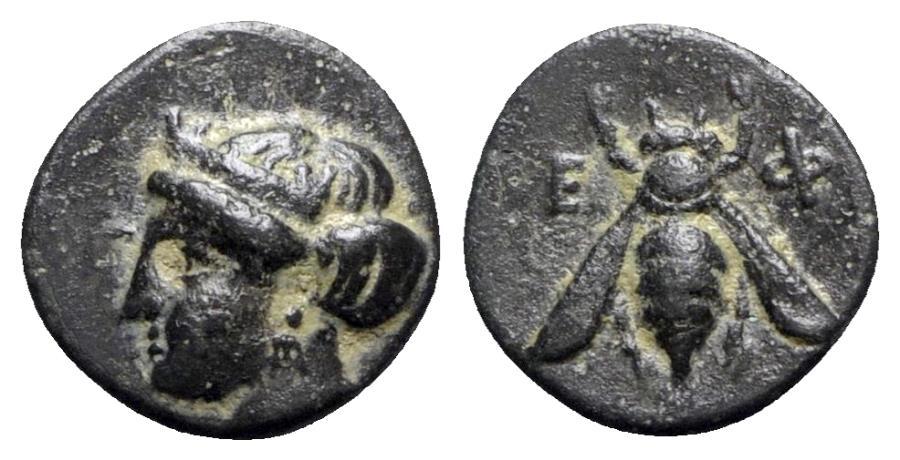 Ancient Coins - Ionia, Ephesos, c. 375 BC. Æ