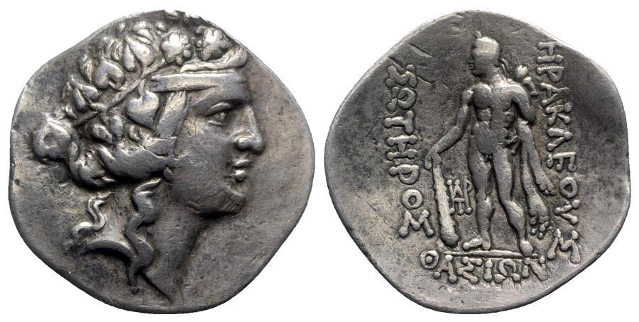 Ancient Coins - Islands of Trace, Thasos, c. 90-75 BC. AR Tetradrachm