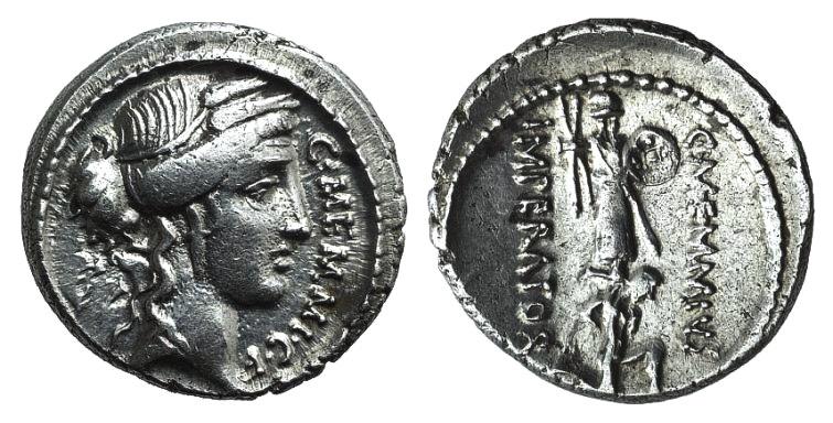 Ancient Coins - Rome Republic C. Memmius C.f., Rome, 56 BC. AR Denarius