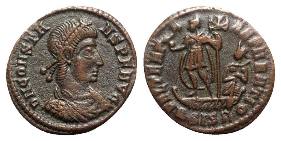 Ancient Coins - Constans (337-350). Æ - Siscia - R/ Emperor on galley