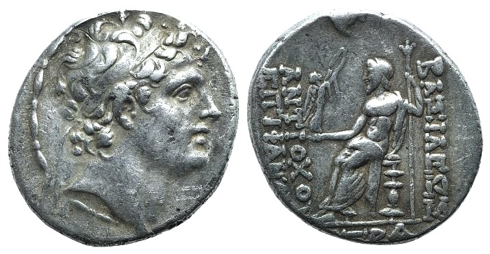 Ancient Coins - Seleukid Kings, Antiochos IV (175-164 BC). AR Tetradrachm. Posthumous issue. Antioch year 167 (146/5).