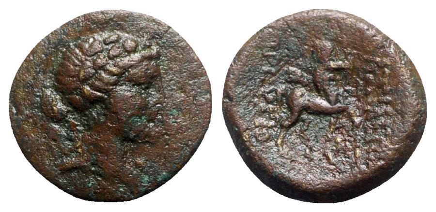 Ancient Coins - Kings of Bythinia, Prusias II (182-149 BC). Æ - Dionysos / Centaur