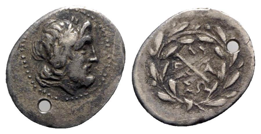 Ancient Coins - Achaia, Achaian League. Elis, c. 175-168 BC. AR Hemidrachm