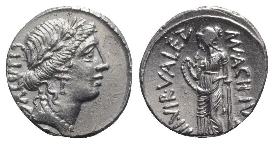 Ancient Coins - Roman Imperatorial, Man. Acilius Glabrio, Rome, 49 BC. AR Denarius. R/ Salus