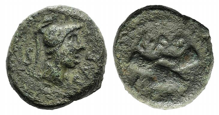 Ancient Coins - Northern Lucania, Paestum, c. 90-44 BC. AE Semis
