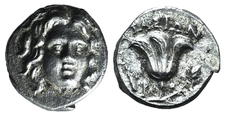 Ancient Coins - Islands of Caria, Rhodes, c. 205-190 BC. AR Drachm. Stasion, magistrate.