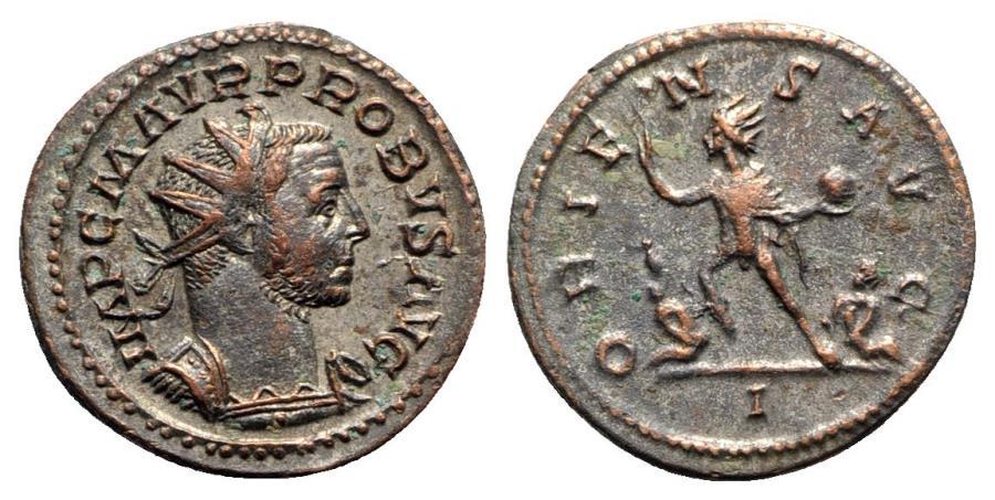 Ancient Coins - Probus (276-282). Radiate / Antoninianus - Lugdunum - R/ Sol
