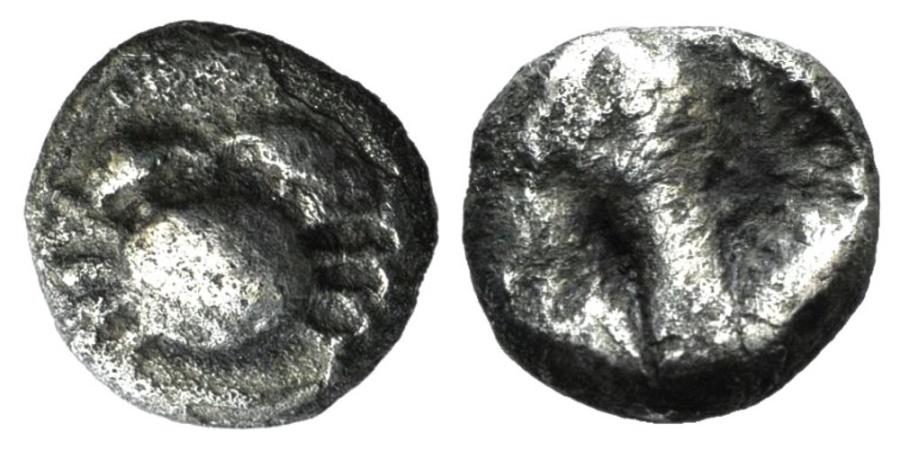 Ancient Coins - Islands of Caria, Kos, c. 500-480 BC. AR Drachm. Crab. VERY RARE