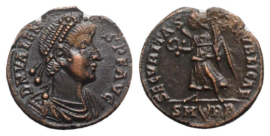 Ancient Coins - Valens (364-378). Æ - Rome - R/ Victory