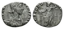 Ancient Coins - Flavius Victor. AD 387-388. AR Siliqua. Found Berkshire, UK.