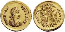 Ancient Coins - Arcadius (383 – 408) AV Solidus, Thessalonica 383-384