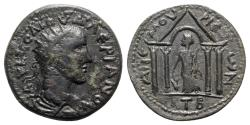 Ancient Coins - Valerian I (253-260). Cilicia, Anemurium. Æ - R/ Tyche