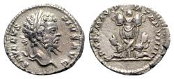 Ancient Coins - Septimius Severus (193-211). AR Denarius - Rome - R/ Trophy and captives