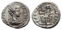 Ancient Coins - Geta (Caesar, 198-209). AR Denarius - Rome - R/ Securitas