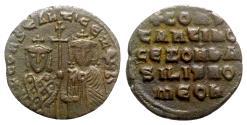 Ancient Coins - Constantine VII and Zoe (913-959). Æ 40 Nummi.