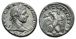 Ancient Coins - Elagabalus (218-222). Seleucis and Pieria, Laodicea ad Mare. AR Tetradrachm
