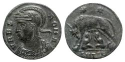 Ancient Coins - Commemorative Series, 330-354. Æ Follis - Thessalonica - R/ She-wolf