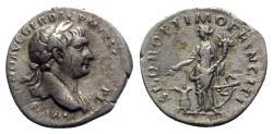 Ancient Coins - Trajan (98-117). AR Denarius - Rome - R/ Annona