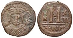 Ancient Coins - Maurice Tiberius (582-602). Æ 40 Nummi. Theoupolis (Antioch), year 18 (599/600).