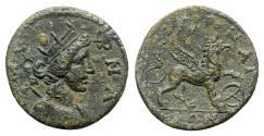 Ancient Coins - Ionia, Smyrna. Pseudo-autonomous issue, late 2nd century. Æ - Amazon Smyrna / Griffin
