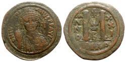 Ancient Coins - Justinian I (527-565). Æ 40 Nummi - Nicomedia, year 21