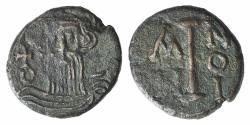 Ancient Coins - Constans II (641-668). Æ 10 Nummi. Syracuse, year 10 (651/2).