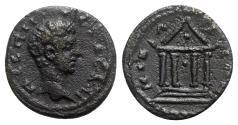 Ancient Coins - Geta (Caesar, 198-209). Bithynia, Nicaea. Æ - R/ Temple