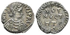 Ancient Coins - Justinian I, 527-565. 1/2 Siliqua Carthago circa 534-565. RARE