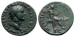 Ancient Coins - Vespasian (69-79). Æ As - Lugdunum - R/ Securitas