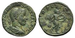 Ancient Coins - Gordian III (238-244). Æ Sestertius. Rome, AD 244. R/ MARS