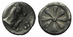 Ancient Coins - Aeolis, Kyme, 6th century BC. AR Hemiobol