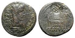 Ancient Coins - Augustus (27 BC-AD 14). Æ As - Lugdunum - R/ TIB c/m
