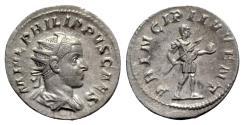 Ancient Coins - Philip II (Caesar, 244-246). AR Antoninianus - Rome
