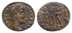 Ancient Coins - Constantius II (337-361). Æ - Antioch - R/ Soldiers