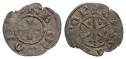 Ancient Coins - Crusaders, County of Tripoli. Bohémond V (1233-1251). BI Denier R/ Eight-pointed star