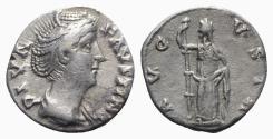 Ancient Coins - Diva Faustina Senior (died 140/1). AR Denarius - Rome - R/ Ceres