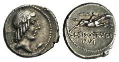 Ancient Coins - ROME REPUBLIC  L. Calpurnius Piso Frugi, Rome, 90 BC. AR Denarius