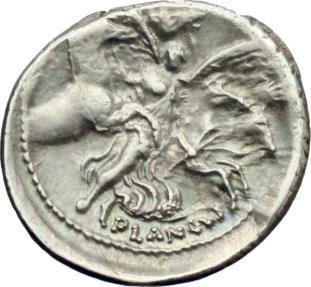Ancient Coins - ROME REPUBLIC. L. Plautius Plancus. AR Denarius, 47 BC. NICE !!