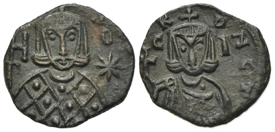 Ancient Coins - Leo V and Constantine (813-820). Æ 40 Nummi - Follis. Syracuse. EXTREMELY FINE