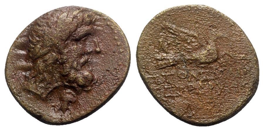 Ancient Coins - Coele-Syria, Chalkis ad Libanon. Ptolemaios (Tetrarch, c. 85-40 BC). Æ - Zeus / Eagle