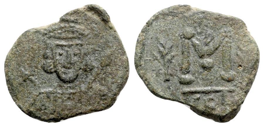 Ancient Coins - Tiberius III (698-705). Æ 40 Nummi - Syracuse