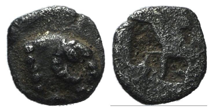 Ancient Coins - Troas, Kebren, c. 5th century BC. AR Tetartemorion RARE