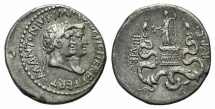 Ancient Coins - MARK ANTONY, with OCTAVIA. 39 BC. AR Cistophoric Tetradrachm
